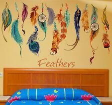 Classic Creative Dream Catcher Feather Wall Sticker Art Decal Mural