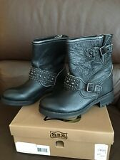 NEW! NIB! ASH Black Leather Stud Western REBEL Moto Motorcycle Boots EU37 $335