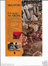 SINGAPORE AIRLINES 2 PAGE SINGAPORE IT'S ALSO AN AIRLINE 707 & FEAST AD