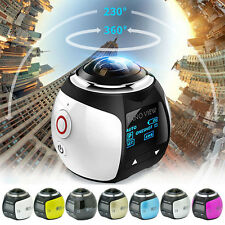 360° WiFi HD 2448P 30fps Sports Action DV Waterproof Panoramic Video Camera NEW