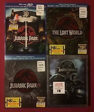 Jurassic Park Complete Collection Blu-ray 3D DVD Digital Slipcovers 1 2 3 World