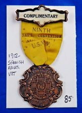 1912 Spanish American War 9th National Convention Auxiliary Atlantic City Medal