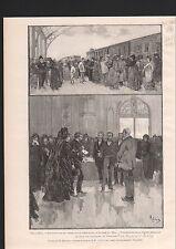 BELGIQUE DEMANDE GRACE CONDAMNES EMEUTES OUVRIERES 1886 GRAVURE ANTIQUE PRINT