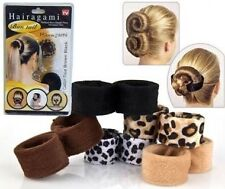 Hairagami Ladies Bun Tail Hair Accessory-Brown