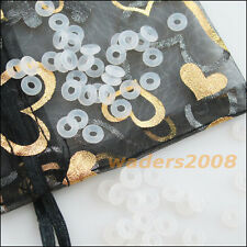 50Pcs White Section Rubber 7mm O-Ring Gaskets Connectors Stoppers
