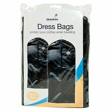 2 x New Set Of Blk Peva Dress Garment Suit Covers Clothes Bag Travel Business