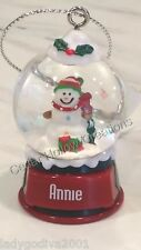 Personalized Snow Globe Ornament - Annie - FREE Shipping