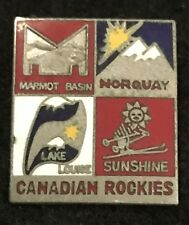 MARMOT NORQUAY LAKE LOUISE SUNSHINE Skiing Pin CANADIAN ROCKIES Resort Travel