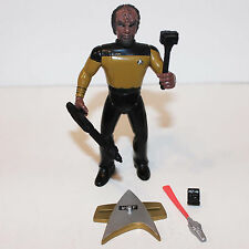 Star Trek Generations Worf Action Figure 1994 Playmates Complete Loose + Poster