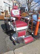 PAIR OF KOKEN BARBER CHAIRS FROM NJ ESTATE PICK UP ONLY! ONE PRICE FOR BOTH!