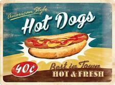 American Style Hot Dog Dogs Blechschild Schild Blech Metall Tin Sign 30 x 40 cm