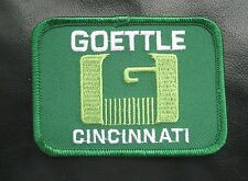 GOETTLE EMBROIDERED SEW ON PATCH CINCINNATI ENGINEERING CONSTRUCTION COMPANY