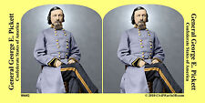 General George Pickett Confederate Civil War SV Stereoview Stereocard 3D 00682