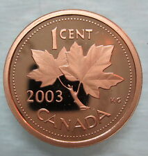 2003 CANADA 1 CENT PROOF PENNY COIN - A