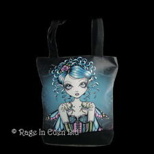 *GRACIE* Goth Fantasy Fairy Art Tote Bag By Myka Jelina