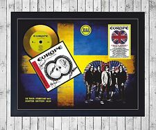 EUROPE LAST LOOK AT EDEN CUADRO CON GOLD O PLATINUM CD EDICION LIMITADA. FRAMED
