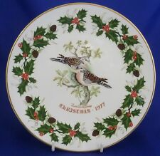ROYAL GRAFTON TWELVE DAYS OF CHRISTMAS PLATE - TWO TURTLE DOVES 1977