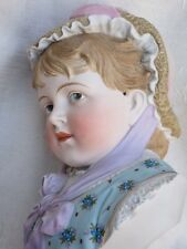 "Beautiful Quality, Antique German Heubach Bust of a Girl - 11 1/4"" (no chips)"