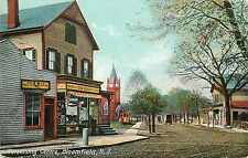 Stores at Watsessing Centre ~BLOOMFIELD NJ~ Historic & Scarce Postcard, 1909