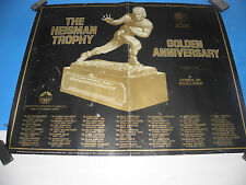 "1984The Heisman Trophy Golden Anniversary Downtown Athletic Club  Poster 22""X28"""