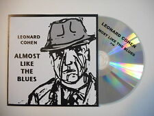 Last French CD Single Promo ! LEONARD COHEN : ALMOST LIKE THE BLUES [ PORT 0€ ]