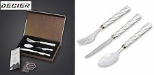 Ceramic Flatware Set 3-Piece Designer  zirconia Tip - Fork, Knife, Spoon utensil