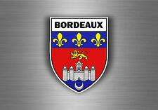 Sticker decal car bike motorcycle souvenir france flag city of bordeaux shield