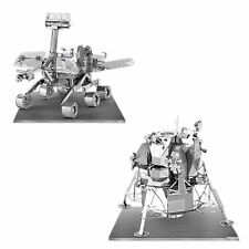 Set of 2 Metal Earth 3D Laser Cut Model Kits Apollo Lunar Module & Mars Rover