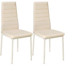 2x Esszimmerstuhl Set Stühle Küchenstuhl Hochlehner Wartezimmer Stuhl beige