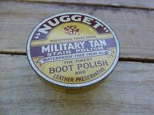 VINTAGE NUGGET BOOT POLISH TIN/ STAIN POLISH/ MADE IN ENGLAND/ COLLECTIBLE