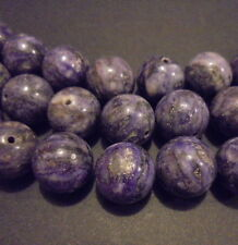 10 PERLES RONDES PIERRE NATURELLE INDE CHAORITE 12 mm NATURAL STONE BEADS INDIA