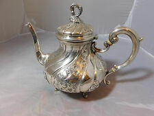 ANTIQUE 800 SILVER TEAPOT  COFFEE POT HALLMARKED ORNATE  NOT 925 STERLING 27 OZs