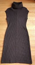 "Ralph Lauren ""Black Label"" 100% Cashmere Brown Knitted Dress Size M# BNWOT"