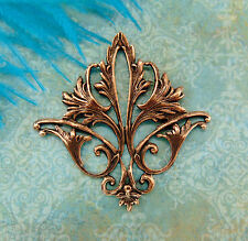 ANTIQUE COPPER Filigree Acanthus Leaf Stampings ~ Findings (CB-3052) `