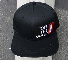 Vans Skateboard FLag checkerboard Black Mens Snapback Hat one size fit all