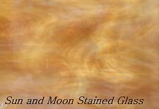 Spectrum Stained Glass Sheet (S317-1) - Light Amber and White (Size 8X10)