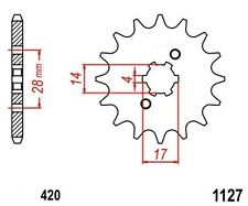 KR Ritzel 12Z Teilung 420 DERBI GPR 50 00-06 New... front sprocket