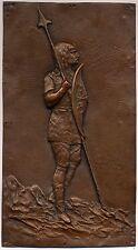 2 X Kupferrelief, Kupfer, Relief, Gallier und Grieche, signiert: Léon Perzinka