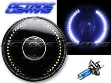 "7"" Motorcycle White LED Angel Eye Halo Headlight Turn Signal Light Bulb: Harley"