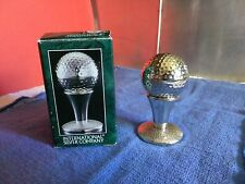 International Silver Company Golf Ball & Tee Salt & Pepper Shaker Set in Box  #1