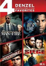 Man on Fire / Out of Time / Unstoppable / Seige, New DVDs