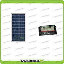 Kit Solare Camper 30W 12V pannello solare regolatore di carica doppia batteria