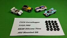 TYCO Pro Curve Hugger HP2 REAR silicone tires 16 piece Lot .460 mounted slot car