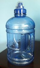BPA FREE Water Sports Bottle Half Gallon 1.89 L 64 oz Blue