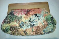 NEW WITH TAGS originally $65 Sondra Roberts sr2 woven purse clutch floral
