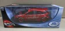 Hot Wheels Ford Focus Wings West Venom Red Car Die-Cast 1:18 Scale NEW B6058