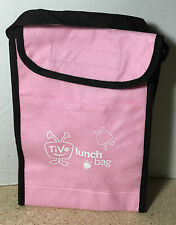 Tivo Employee Promo Pink Insulated Lunch Bag w/ Water Drink Bottle - NEW