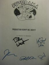 Futurama Signed TV Script Billy West Katey Sagal John DiMaggio David Herman rpnt