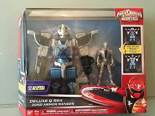 Power rangers super megaforce deluxe q rex zord armour ranger neuf rare jouet