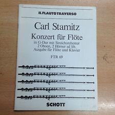 partition méthode Carl Stamitz concert pour Flûte en G Dur op 29 & piano